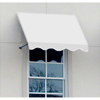 "Awntech CR43-4W, Window/Entry Awning 4' 4-1/2""W x 3'D x 4' 8""H Off White"