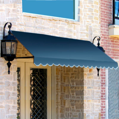 "Awntech CR44-6DB, Window/Entry Awning 6' 4 -1/2""W x 4'D x 4' 8""H Dusty Blue"