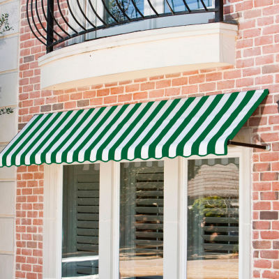 "Awntech CR44-8FW, Window/Entry Awning 8' 4 -1/2""W x 4'D x 4' 8""H Forest Green/White"