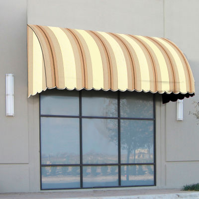 "Awntech CS33-4GCK, Window/Entry Awning 4' 4-1/2""W x 3'D x 3' 8""H Gray/Cream/Black"