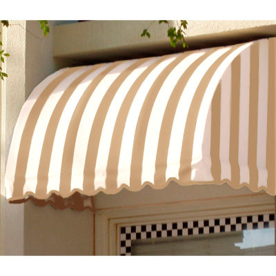 "Awntech CS33-4TW, Window/Entry Awning 4' 4-1/2""W x 3'D x 3' 8""H Linen/White"