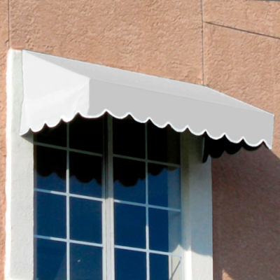 "Awntech EF1030-5W, Window/Entry Awning 5' 4-1/2""W x 2' 6""D x 1' 4""H Off White"