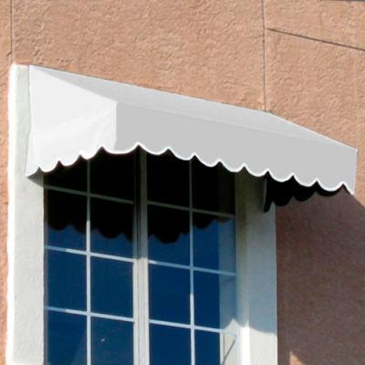 "Awntech EF1030-6W, Window/Entry Awning 6' 4-1/2""W x 2' 6""D x 1' 4""H Off White"