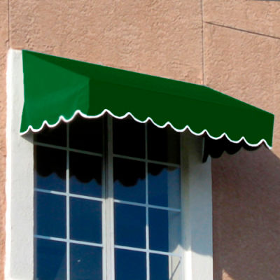 "Awntech EF1836-4F, Window/Entry Awning 4' 4-1/2""W x 3'D x 1' 6""H Forest Green"