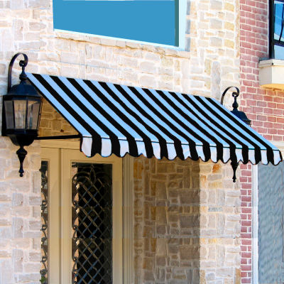 "Awntech ER1030-7KW, Window/Entry Awning 7' 4-1/2""W x 2' 6""D x 1' 4""H Black/White"