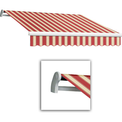 "Awntech MTL12-443-BWM, Retractable Awning Left Motor 12'W x 10'D x 10""H Burgundy/White"