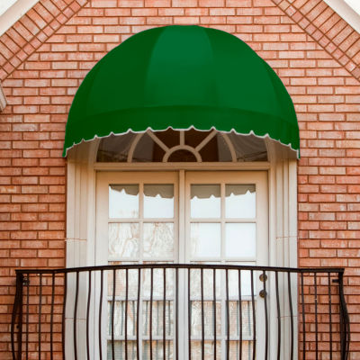 """Awntech RB5-F, Window/Entry Awning 5' 4-1/2""""W x 2' 8-1/4""""D x 3' 3-1/4""""H Forest Green"""