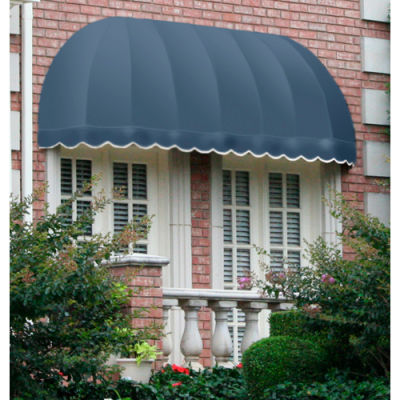 "Awntech RC22-4DB, Window/Entry Awning 3' 4-1/2"" W x 2'D x 2' 7""H Dusty Blue"