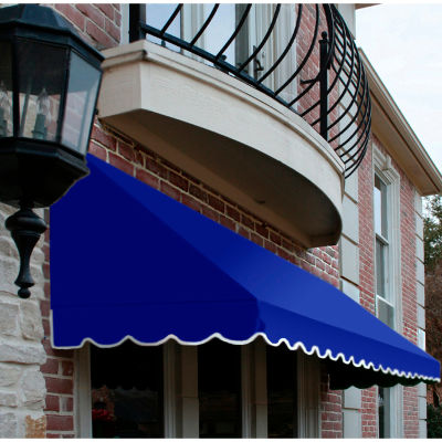 "Awntech RF22-5BB, Window/Entry Awning 5' 4-1/2"" W x 2'D x 2' 7""H Bright Blue"