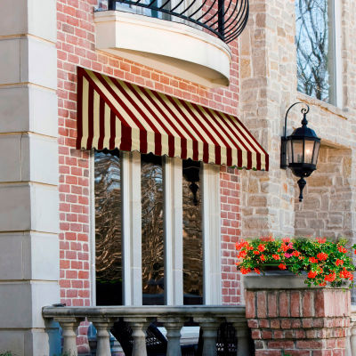 "Awntech RF22-6BT, Window/Entry Awning 6' 4-1/2"" W x 2'D x 2' 7""H Burgundy/Tan"