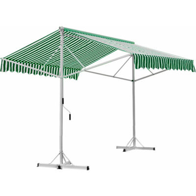 Awntech RICH10-FW, Retractable Awning Free Standing Manual 10'W x 16'D x 8'H Forest/White