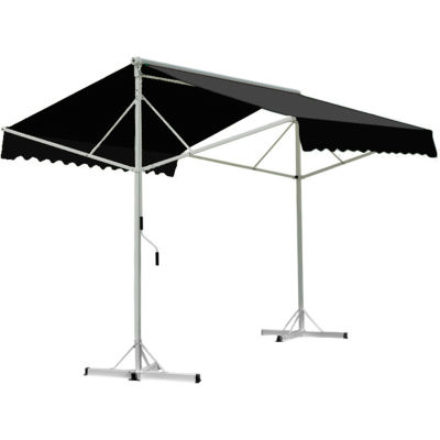 "Awntech RICH12-K, Retractable Awning Free Standing Manual 11' 6""W x 16'D x 8'H Black"