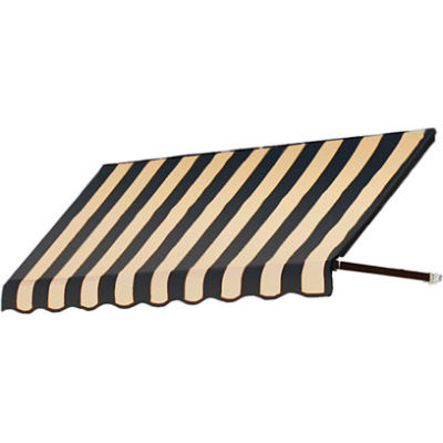 Awntech RR12-10KT, Window/Entry Awning 10-3/8'W x 1-5/16'H x 2'D Black/Tan