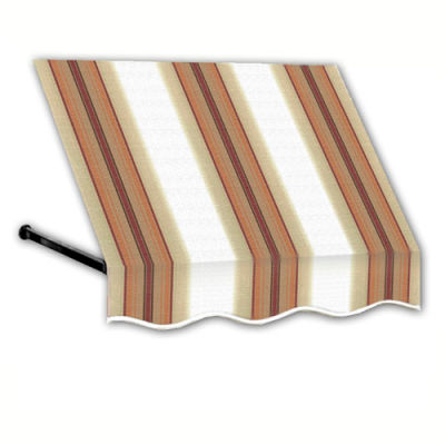 Awntech RR12-10WLTER, Window/Entry Awning 10-3/8'W x 1-5/16'H x 2'D White/Linen/Terra Cotta