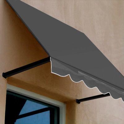 Awntech RR22-3G, Window/Entry Awning 3-3/8'W x 2-9/16'H x 2'D Gray