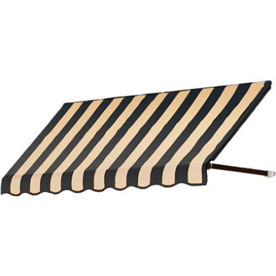 "Awntech RR22-7KT, Window/Entry Awning 7' 4-1/2"" W x 2'D x 2' 7""H Black/Tan"
