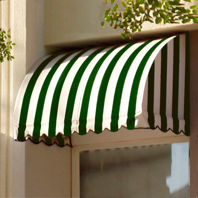 """Awntech RS22-6FW, Window/Entry Awning 6' 4-1/2"""" W x 2'D x 2' 7""""H Forest Green/White"""
