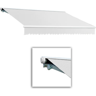 """Awntech SCL12-65-W, Retractable Awning Left Motor 12'W x 10'D x 10""""H Off White"""