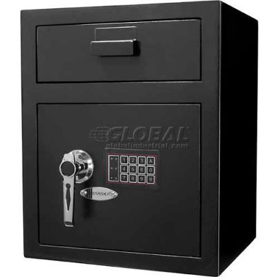 "Barska Large Keypad Depository Safe AX11930 - 15-5/16""W x 13-1/2""D x 19""H, Black"