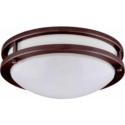 "Amax Lighting LED-JR001BRZ 10"" LED 2 Ring Ceiling Fixture, 14W, 4000 CCT, 1200 Lumen, 82 CRI, Bronze"