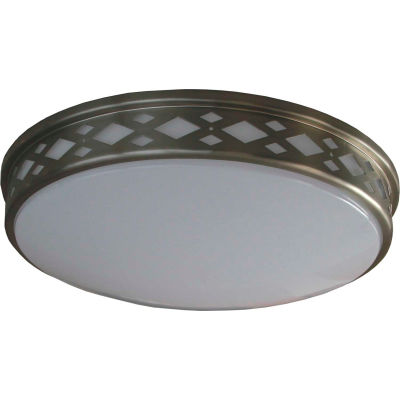 "Amax Lighting LED-JR001DN 10"" LED Diamond Ceiling Lattice, 14W, 4000 CCT, 1200 Lumen, 82 CRI, Nickel"