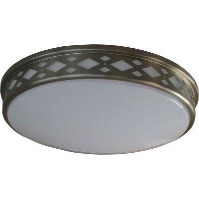 "Amax Lighting LED-JR002DN 14"" LED Diamond Ceiling Lattice, 20W, 4000 CCT, 1660 Lumen, 82 CRI, Nickel"
