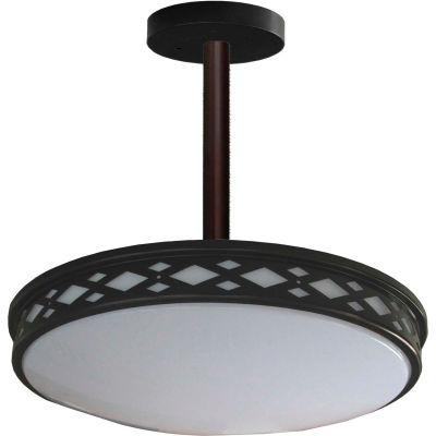 "Amax Lighting LED-JR003DP1B 17"" LED Diamond Lattice, 35W, 4000 CCT, 2900 Lumen, 82 CRI, Bronze"