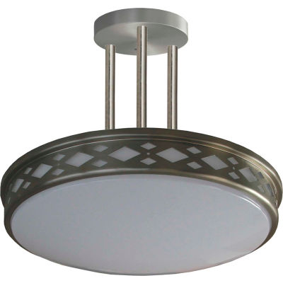 "Amax Lighting LED-JR003DP3N 17"" LED Diamond Lattice, 35W, 4000 CCT, 2900 Lumen, 82 CRI, Nickel"