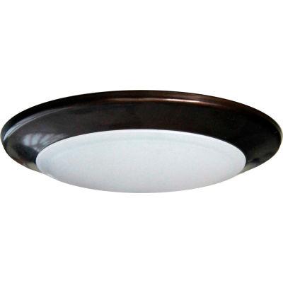 "Amax Lighting LED-SM6D/BRZ 6"" Dimmable LED Can Disk Light, 15W, 3000 CCT, 1095 Lumen, 82 CRI, Bronze"