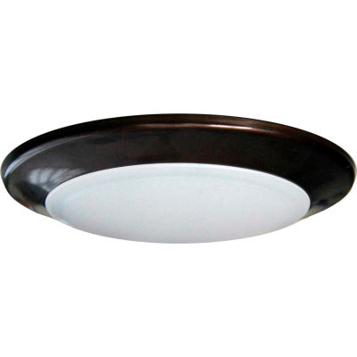 "Amax Lighting LED-SM6D/BRZ 6"" Dimmable LED Can Disk Light, 15W, 3000 CCT, 1095 Lumen, 82 CRI, Bronze"