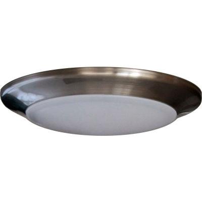 "Amax Lighting LED-SM6D/NKL 6"" Dimmable LED Can Disk Light, 15W, 3000 CCT, 1095 Lumen, 82 CRI, Nickel"