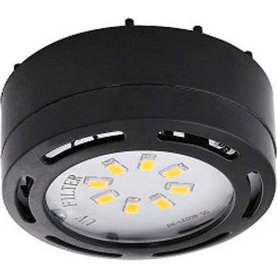 Amax Lighting LEDPL3-BLK LED Puck Light, 3- 4W, 3000 CCT, 1080 Lums, 82 CRI, Black, 3 light kit
