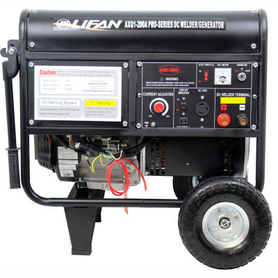 Lifan Power USA AXQ1-200A-CA, 4000 Watts, Welder/Generator Combo,Gasoline,Electric/Recoil Start,120V