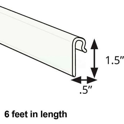 """Global Approved 600073-WHT 1.5"""" High Gridwall Extrusion, 6' Long, White"""