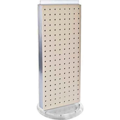 """Azar Displays 700509-ALM Two-Sided Non-Revolving Pegboard Countertop Display, 8"""" x 20"""", Almond"""