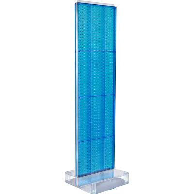 "Azar Displays 700770-BLU, Two-Sided Pegboard Floor Display W/ Studio Base, 17""W x 17""D x 60""H"
