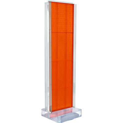 "Azar Displays 700778-ORG, Two-Sided Pegboard Floor Display W/ Studio Base, 17""W x 17""D x 60""H"