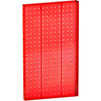 """Azar Displays 771322-RED Pegboard Wall Panel, 13.5"""" x 22"""", Red Opaque"""