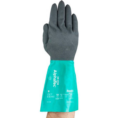 AlphaTec® Chemical Resistant Gloves, Ansell 58-535B-8, 1-Pair