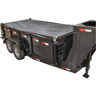 Buyers Aluminum Tarp System with Mesh Tarp, 5-1/2 Ft. x 14 Ft. - DTR5514
