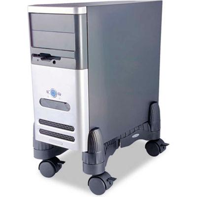 Kantek CS200B Mobile CPU Stand, 60 lbs. Capacity, Black