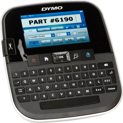 "Dymo® Label Maker, 1790417, 10 Fonts, 6-1/2"" X 7-1/2"" X 3-3/4"", Black"