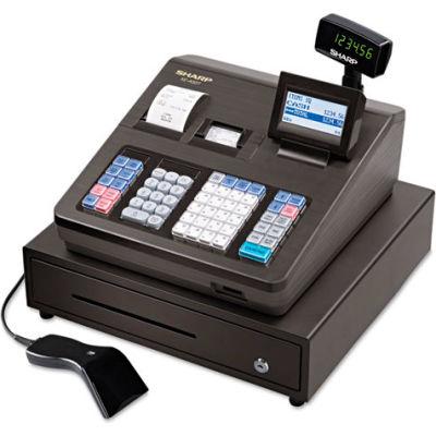 Sharp® Cash Register, SHRXEA507, 40 Clerks, 99 Departments, Scanner, Black