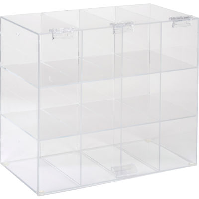 "Horizon Mfg. Safety Glass Holder With Door, 5205, Holds 12 Glasses, 7-3/4""L"