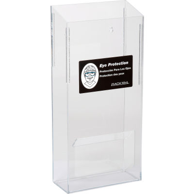 "Horizon Mfg. 20 Pair Safety Glass Dispenser, 5143 Clear, Plastic, 5143, 7-3/4""L"