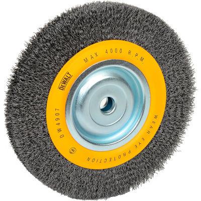 "DeWALT® HighPerformance™ Bench Grinder Brush, DW4907, 8"" Diameter, 5/8"" Arbor, 4000 RPM"