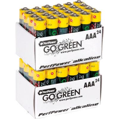 Power By GoGreen 24012 AAA Alkaline Battery  - Pkg Qty 24