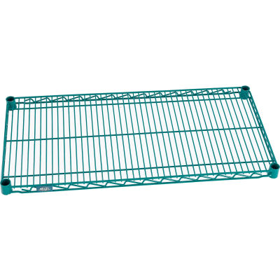 """Nexel® S1236G Poly-Green® Epoxy Wire Shelf 36""""W x 12""""D"""
