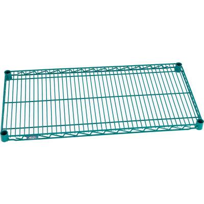 """Nexel® S1272G Poly-Green® Epoxy Wire Shelf 72""""W x 12""""D"""