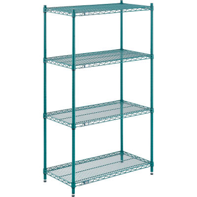 "Nexel® S1248G Poly-Green® Epoxy Wire Shelf 48""W x 12""D"